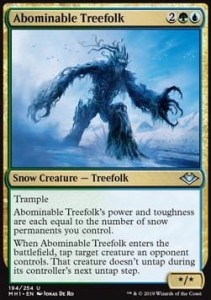 Abominable Treefolk FOIL