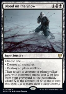 Blood on the Snow FOIL