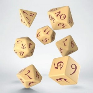 Classic RPG Beige & burgundy Dice Set