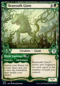 Beanstalk Giant // Fertile Footsteps Alt FOIL