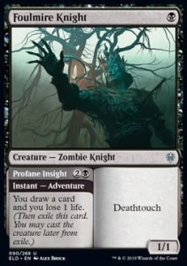 Foulmire Knight // Profane Insight FOIL