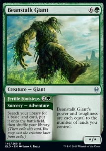 Beanstalk Giant // Fertile Footsteps FOIL